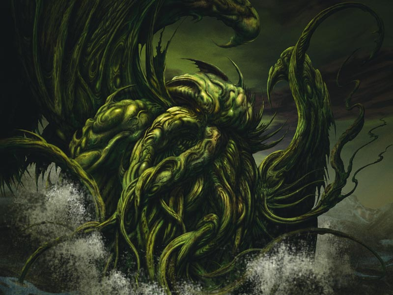 Cthulhu as painted by John Coulhart